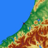 Nearby Forecast Locations - Hokitika - Map