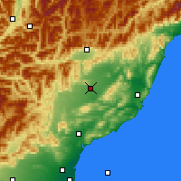 Nearby Forecast Locations - Culverden - Map
