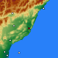 Nearby Forecast Locations - Cheviot - Map