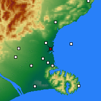 Nearby Forecast Locations - Kaiapoi - Map