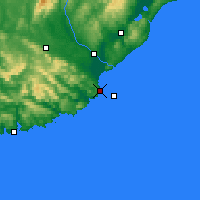 Nearby Forecast Locations - Nugget Point Aws - Map