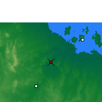 Nearby Forecast Locations - Borroloola - Map