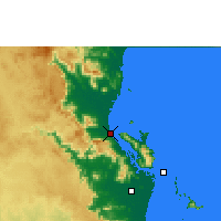 Nearby Forecast Locations - Cardwell - Map