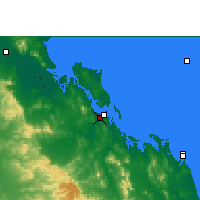 Nearby Forecast Locations - Gladstone Airport - Map