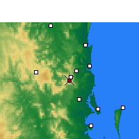 Nearby Forecast Locations - Maleny - Map