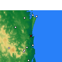 Nearby Forecast Locations - Tewantin - Map