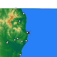Nearby Forecast Locations - Byron Bay - Map