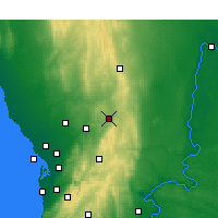Nearby Forecast Locations - Nuriootpa - Map