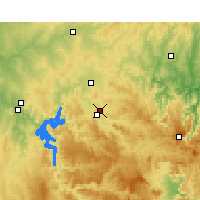 Nearby Forecast Locations - Mudgee Airport - Map