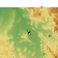 Nearby Forecast Locations - Gunnedah - Map
