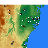 Nearby Forecast Locations - Campbelltown - Map