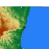 Nearby Forecast Locations - Coffs Harbour - Map