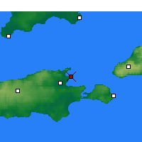 Nearby Forecast Locations - Kingscote - Map
