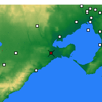 Nearby Forecast Locations - Geelong - Map