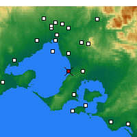 Nearby Forecast Locations - Frankston - Map
