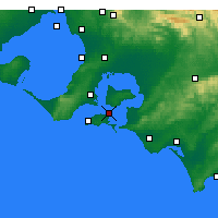 Nearby Forecast Locations - Rhyll - Map