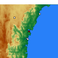 Nearby Forecast Locations - Batemans Bay - Map