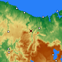 Nearby Forecast Locations - Erriba - Map