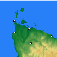 Nearby Forecast Locations - Strahan - Map