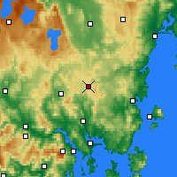 Nearby Forecast Locations - Tunnak - Map