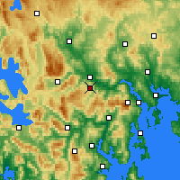 Nearby Forecast Locations - Moogara - Map