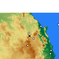 Nearby Forecast Locations - Walkamin Research Station - Map