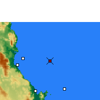 Nearby Forecast Locations - Norman Reef - Map
