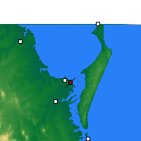 Nearby Forecast Locations - Hervey Bay AP - Map
