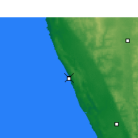 Nearby Forecast Locations - Lancelin - Map