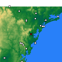 Nearby Forecast Locations - Middle Head - Map