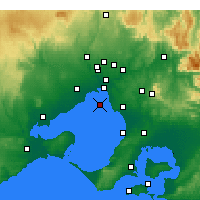 Nearby Forecast Locations - Fawkner Beacon - Map