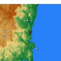 Nearby Forecast Locations - Merimbula - Map