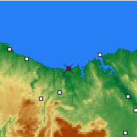 Nearby Forecast Locations - Devonport Airport - Map