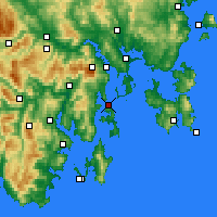 Nearby Forecast Locations - Bull Bay - Map