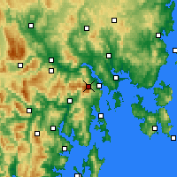 Nearby Forecast Locations - Mt Wellington - Map