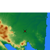 Nearby Forecast Locations - Bandar Lampung - Map