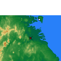 Nearby Forecast Locations - Tanjung Selor - Map