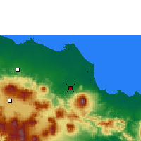 Nearby Forecast Locations - Jatiwangi - Map