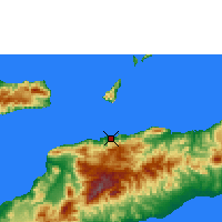 Nearby Forecast Locations - Dili - Map