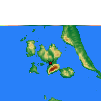 Nearby Forecast Locations - Labuha - Map