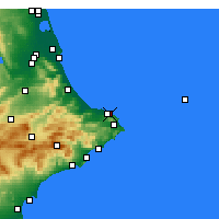 Nearby Forecast Locations - El Verger - Map