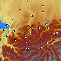 Nearby Forecast Locations - Allgäu Alps - Map