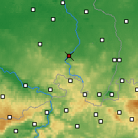 Nearby Forecast Locations - Bautzen - Map