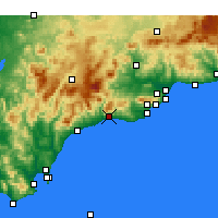 Nearby Forecast Locations - Marbella - Map