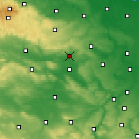Nearby Forecast Locations - Sangerhausen - Map