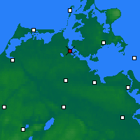 Nearby Forecast Locations - Stralsund - Map