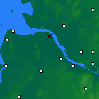 Nearby Forecast Locations - Freiburg Elbe - Map