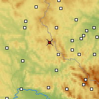 Nearby Forecast Locations - Schönsee - Map