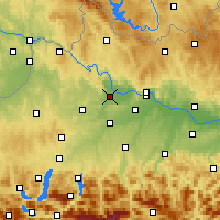 Nearby Forecast Locations - Eferding - Map