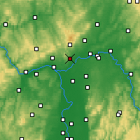 Nearby Forecast Locations - Hofheim - Map